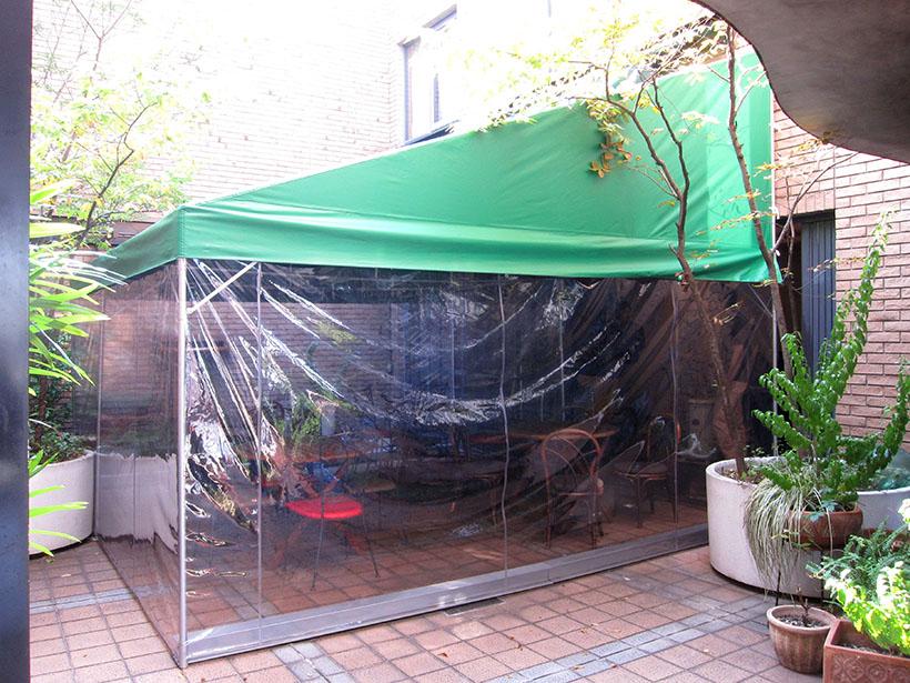 分解収納できるカフェテラス用のテント 愛知県名古屋市
